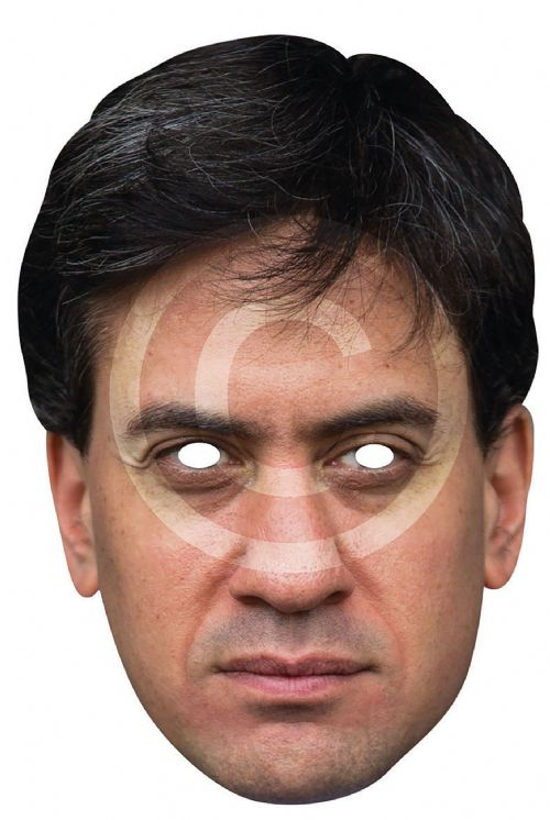 Ed Miliband Card Mask Labour Labor Party MP Party Decoration